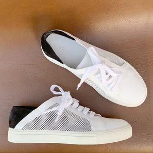 VINCE Leather and Suede Lace-Up Sneakers Size 6.5